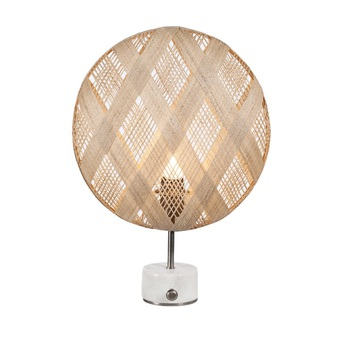 Lampe a poser chanpen diamond s naturel gris o36cm h46cm forestier normal
