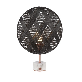 Lampe a poser chanpen diamond s noir cuivre o36cm h46cm forestier normal