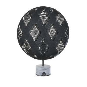 Lampe a poser chanpen diamond s noir gris o36cm h46cm forestier normal