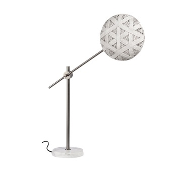 Lampe a poser chanpen hexagonal m blanc gris o26cm h80cm forestier normal