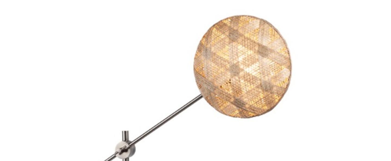 Lampe a poser chanpen hexagonal m naturel gris o26cm h80cm forestier normal