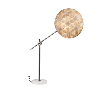 Lampe a poser chanpen hexagonal m naturel gris o36cm h85cm forestier normal