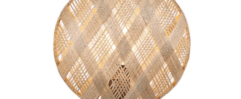 Lampe a poser chanpen hexagonal s naturel cuivre o26cm h41cm forestier normal