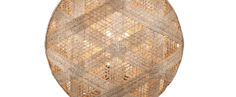 Lampe a poser chanpen hexagonal s naturel gris o36cm h46cm forestier normal