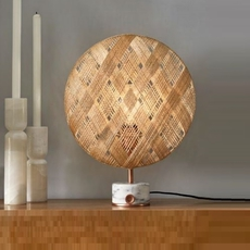 Chanpen s diamond natural o 26cm copper anon pairot lampe a poser table lamp  forestier 20218  design signed 30743 thumb