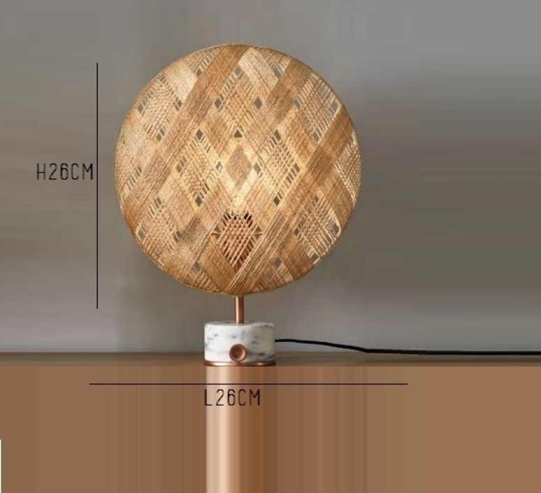 Chanpen s diamond natural o 26cm copper anon pairot lampe a poser table lamp  forestier 20218  design signed 30747 product