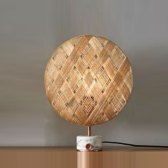 Lampe a poser chanpen s diamond natural o 26cm copper beige h26cm forestier normal