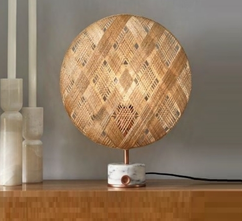 Chanpen s diamond natural o 36cm copper anon pairot lampe a poser table lamp  forestier 20221  design signed 30744 product