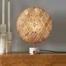 Chanpen s diamond natural o 36cm copper anon pairot lampe a poser table lamp  forestier 20221  design signed 30744 thumb