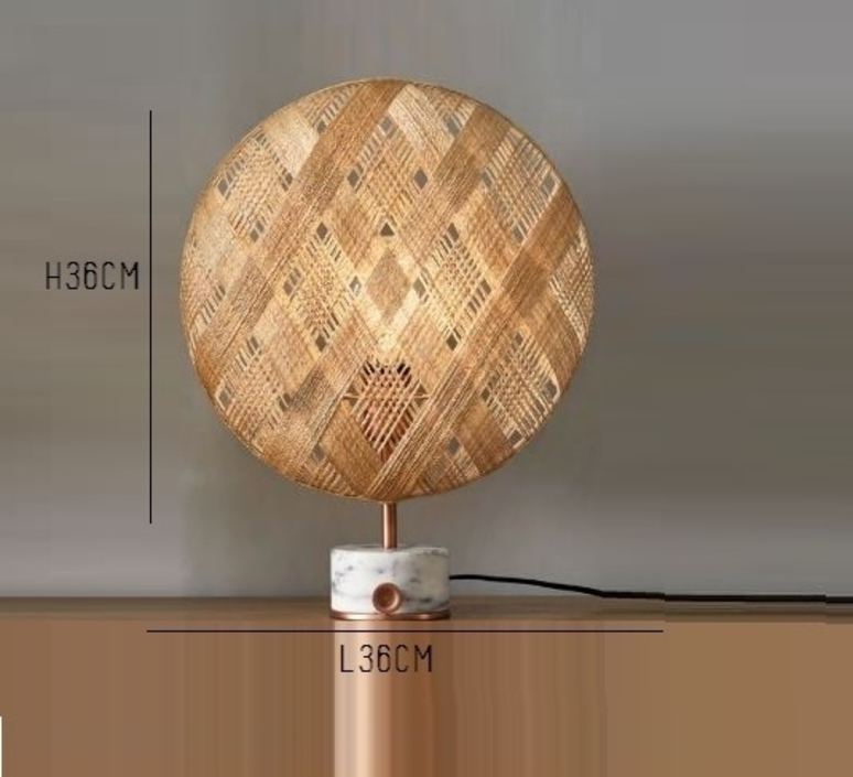 Chanpen s diamond natural o 36cm copper anon pairot lampe a poser table lamp  forestier 20221  design signed 30745 product