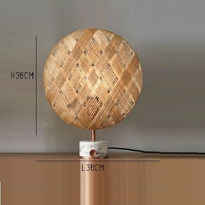 Chanpen s diamond natural o 36cm copper anon pairot lampe a poser table lamp  forestier 20221  design signed 30745 thumb