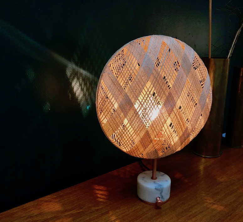 Chanpen s diamond natural o 36cm copper anon pairot lampe a poser table lamp  forestier 20221  design signed 75278 product