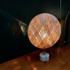 Chanpen s diamond natural o 36cm copper anon pairot lampe a poser table lamp  forestier 20221  design signed 75278 thumb