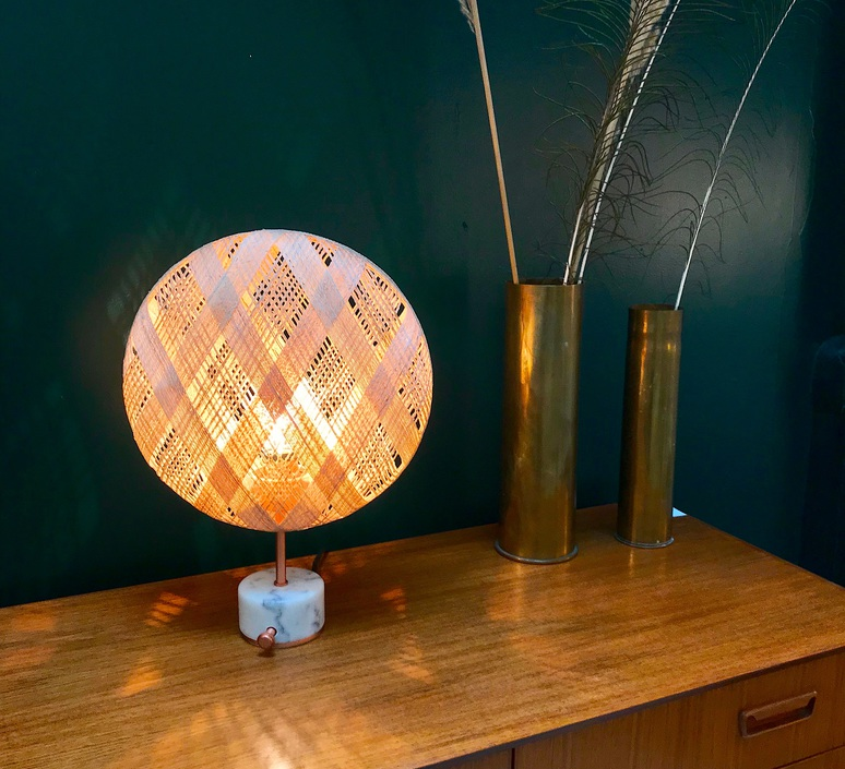 Chanpen s diamond natural o 36cm copper anon pairot lampe a poser table lamp  forestier 20221  design signed 75279 product