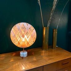 Chanpen s diamond natural o 36cm copper anon pairot lampe a poser table lamp  forestier 20221  design signed 75279 thumb