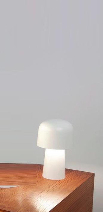 Lampe a poser chapeliere led blanc h24 7cm lignes de demarcation normal