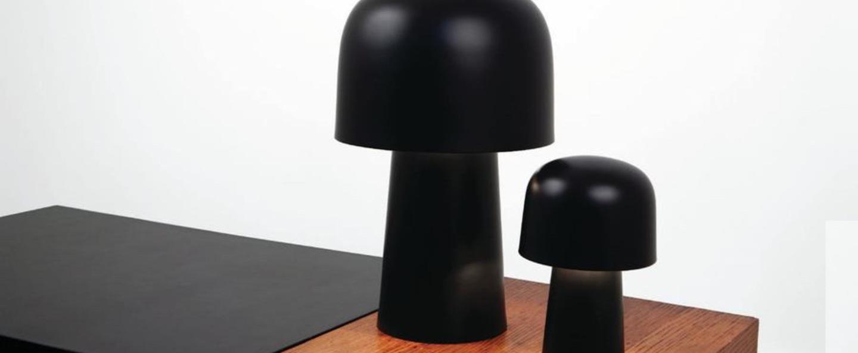 Lampe a poser chapeliere led noir h43 5cm lignes de demarcation normal