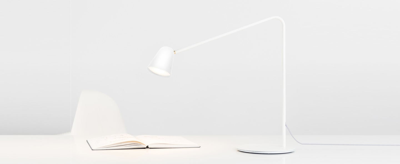 Lampe a poser chaplin blanc l60cm formagenda normal