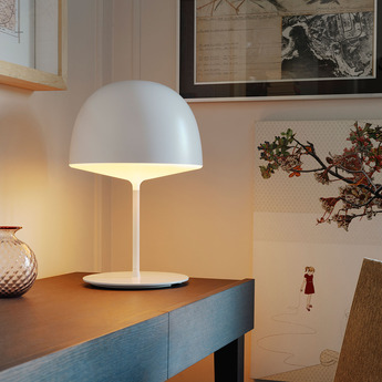 Lampe a poser cheshire blanc h53cm fontanaarte normal