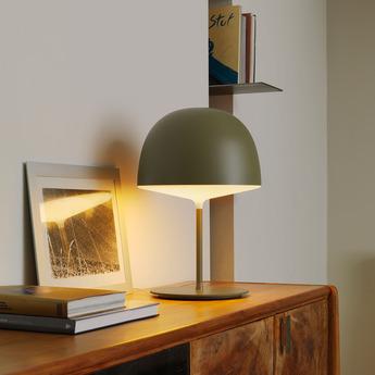 Lampe a poser cheshire vert h53cm fontanaarte normal