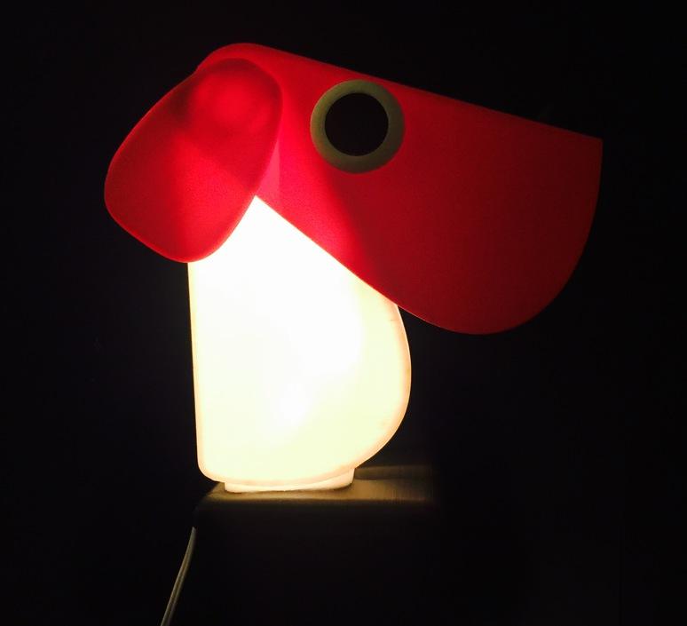 Chien cassetta fernando cassetta cassetta chien rouge luminaire lighting design signed 30409 product