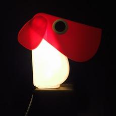 Chien cassetta fernando cassetta cassetta chien rouge luminaire lighting design signed 30409 thumb