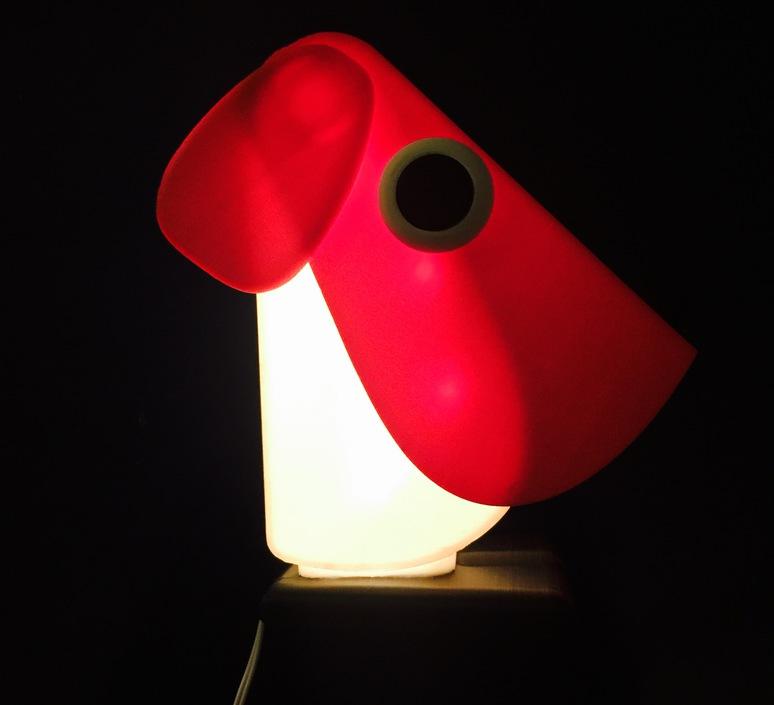 Chien cassetta fernando cassetta cassetta chien rouge luminaire lighting design signed 30411 product