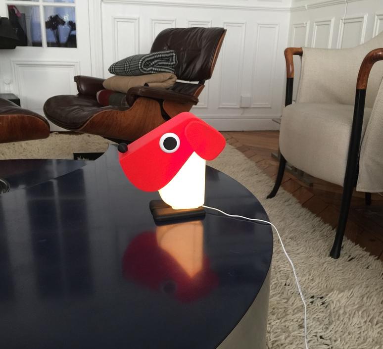 Chien cassetta fernando cassetta cassetta chien rouge luminaire lighting design signed 30519 product