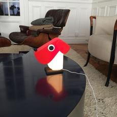 Chien cassetta fernando cassetta cassetta chien rouge luminaire lighting design signed 30519 thumb