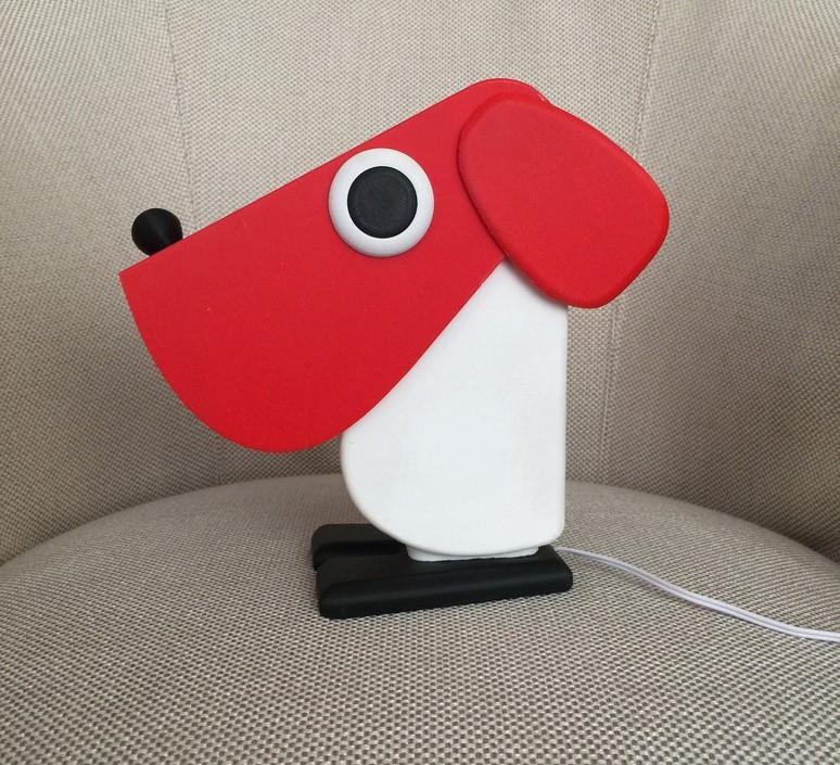 Chien cassetta fernando cassetta cassetta chien rouge luminaire lighting design signed 30520 product