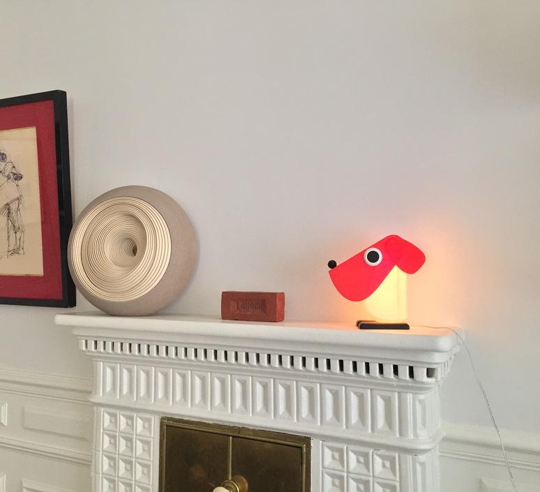 Chien cassetta fernando cassetta cassetta chien rouge luminaire lighting design signed 30522 product