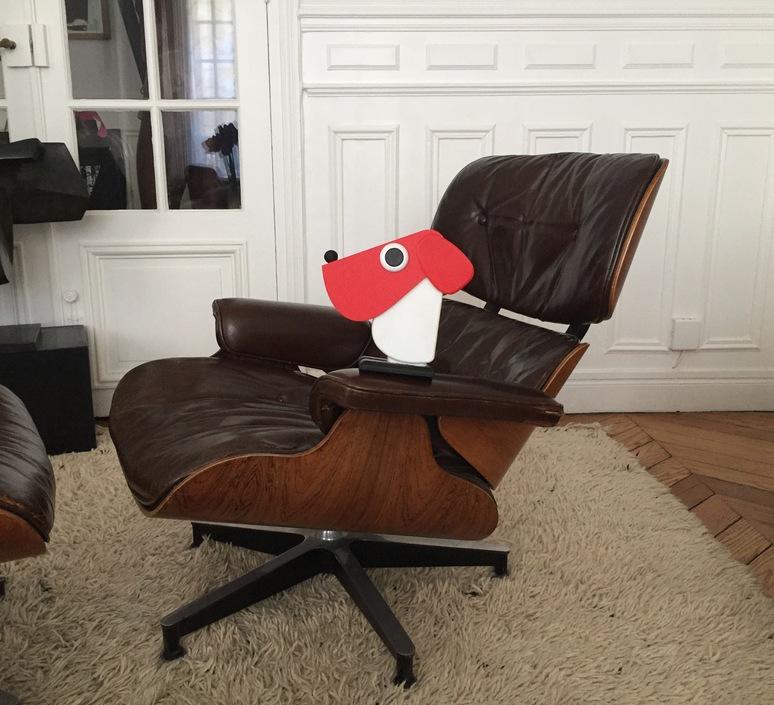 Chien cassetta fernando cassetta cassetta chien rouge luminaire lighting design signed 30524 product