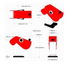 Chien cassetta fernando cassetta cassetta chien rouge luminaire lighting design signed 31339 thumb