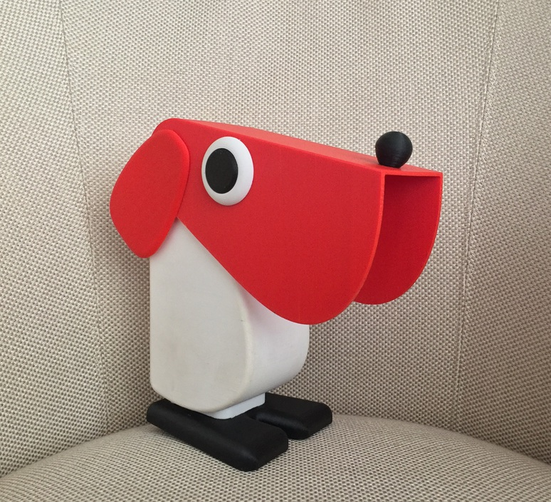 Chien cassetta fernando cassetta cassetta chien rouge luminaire lighting design signed 31340 product