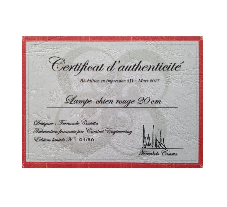 Chien cassetta fernando cassetta cassetta chien rouge luminaire lighting design signed 31341 product