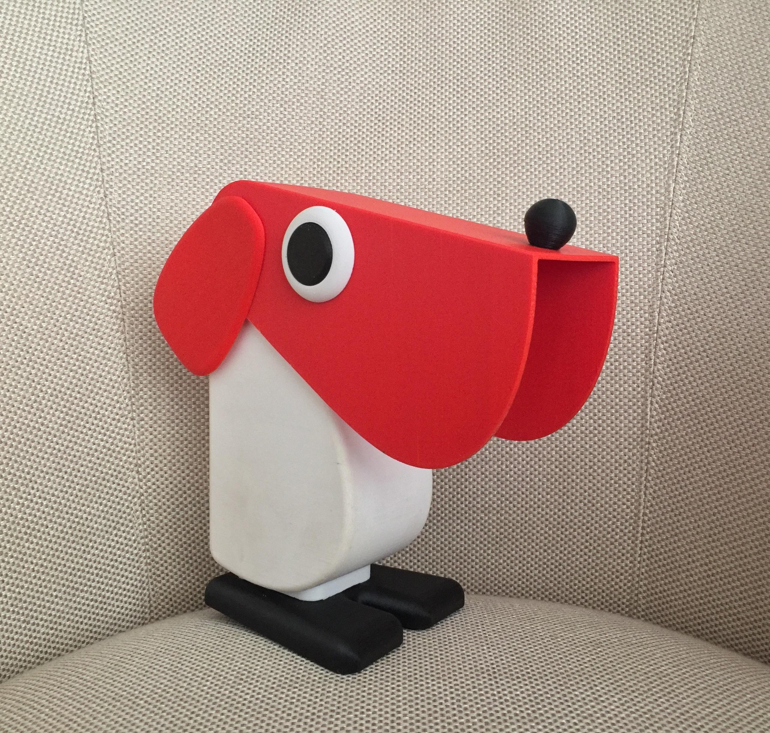 Lampe poser chien fernando cassetta rouge blanc h19 5cm l18cm camtecs engineering - Douille pour lampe a poser ...