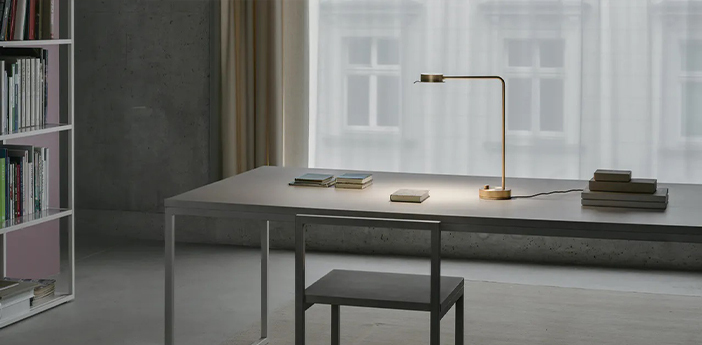 Lampe a poser chipperfield b laiton led 2700k 690lm l11cm h42 3cm wastberg normal