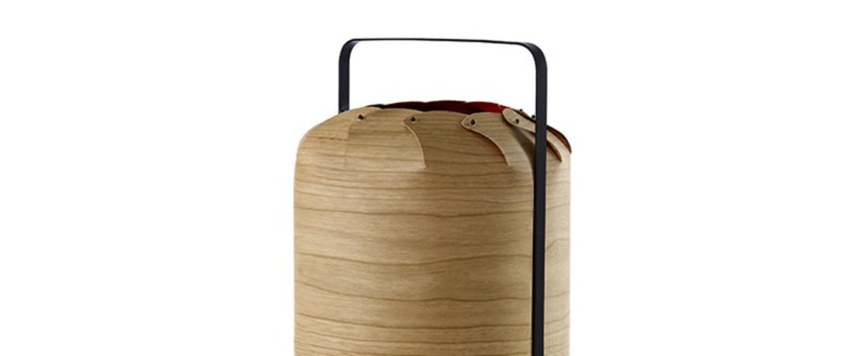Lampe a poser chou mma bois de cerisier naturel led h61cm o30 5cm lzf normal