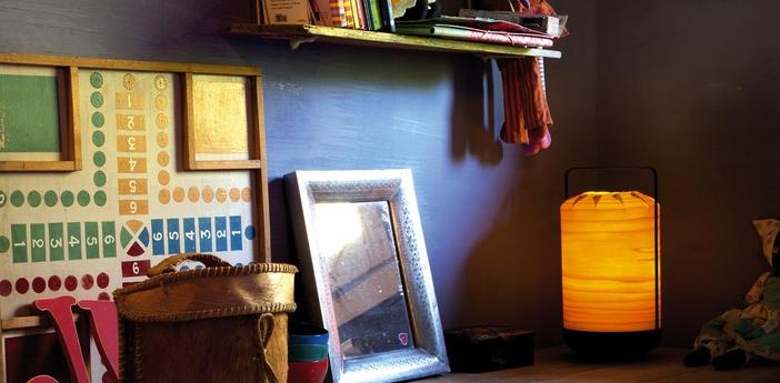 Lampe a poser chou mma jaune led h61cm o30 5cm lzf normal