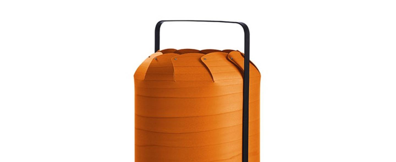 Lampe a poser chou mma orange led h61cm o30 5cm lzf normal