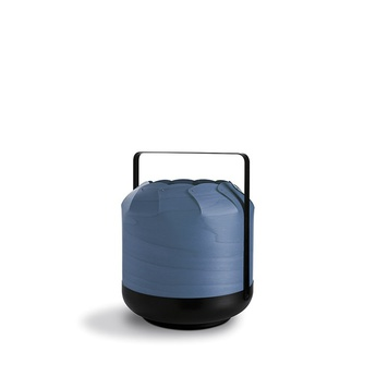 Lampe a poser chou mmb bleu led h37cm o30 5cm lzf normal