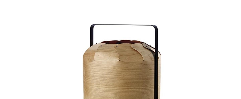 Lampe a poser chou mmb bois de cerisier naturel led h37cm o30 5cm lzf normal
