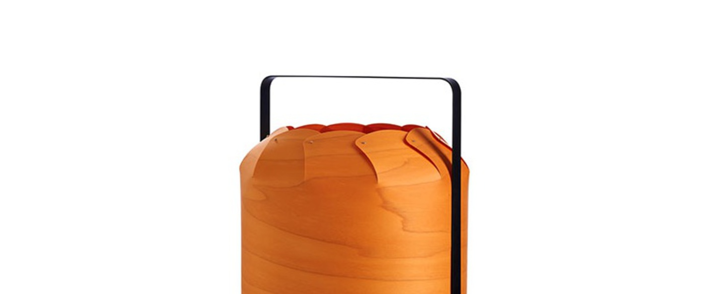 Lampe a poser chou mmb orange led h37cm o30 5cm lzf normal