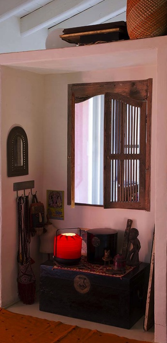 Lampe a poser chou mmb rouge led h37cm o30 5cm lzf normal
