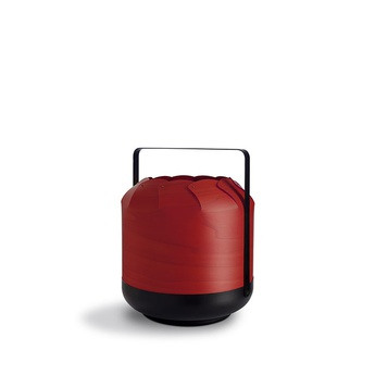 Lampe a poser chou mmb rouge led h37cm o30 5cm lzf normal