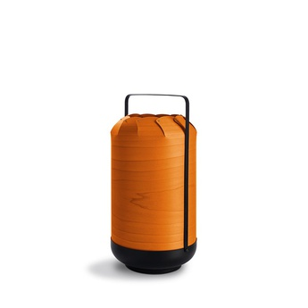 Lampe a poser chou mpa orange led h40cm o21 5cm lzf normal