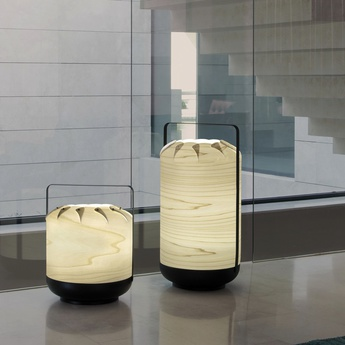 Lampe a poser chou mpb blanc ivoire led h27cm o21 5cm lzf normal