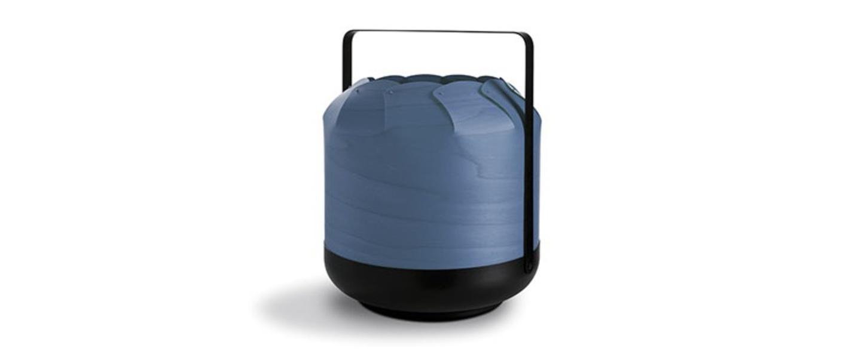 Lampe a poser chou mpb bleu led h27cm o21 5cm lzf normal