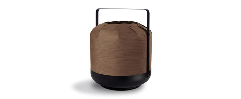 Lampe a poser chou mpb chocolat led h27cm o21 5cm lzf normal