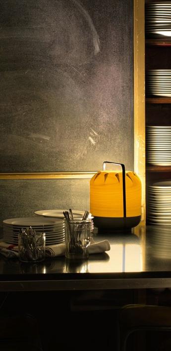 Lampe a poser chou mpb jaune led h27cm o21 5cm lzf normal